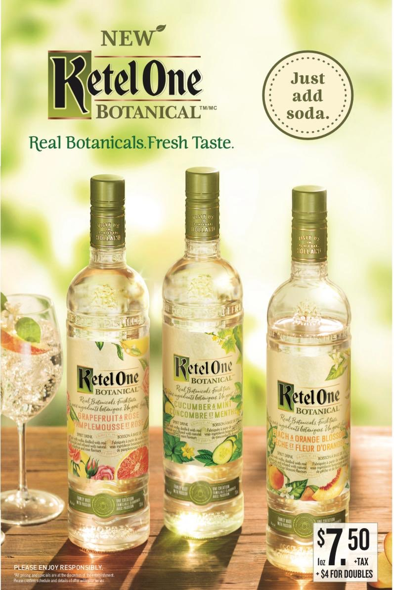 NEW!! We've got Ketel One Botanical at Madisons! For $7.50 try your choice of flavour mixed with soda for the perfect refreshing summer beverage! #yyc #calgary #bar #drink #drinks #beer #beerme #drinklocal #drinkspecials #happyhour #shots #friends
