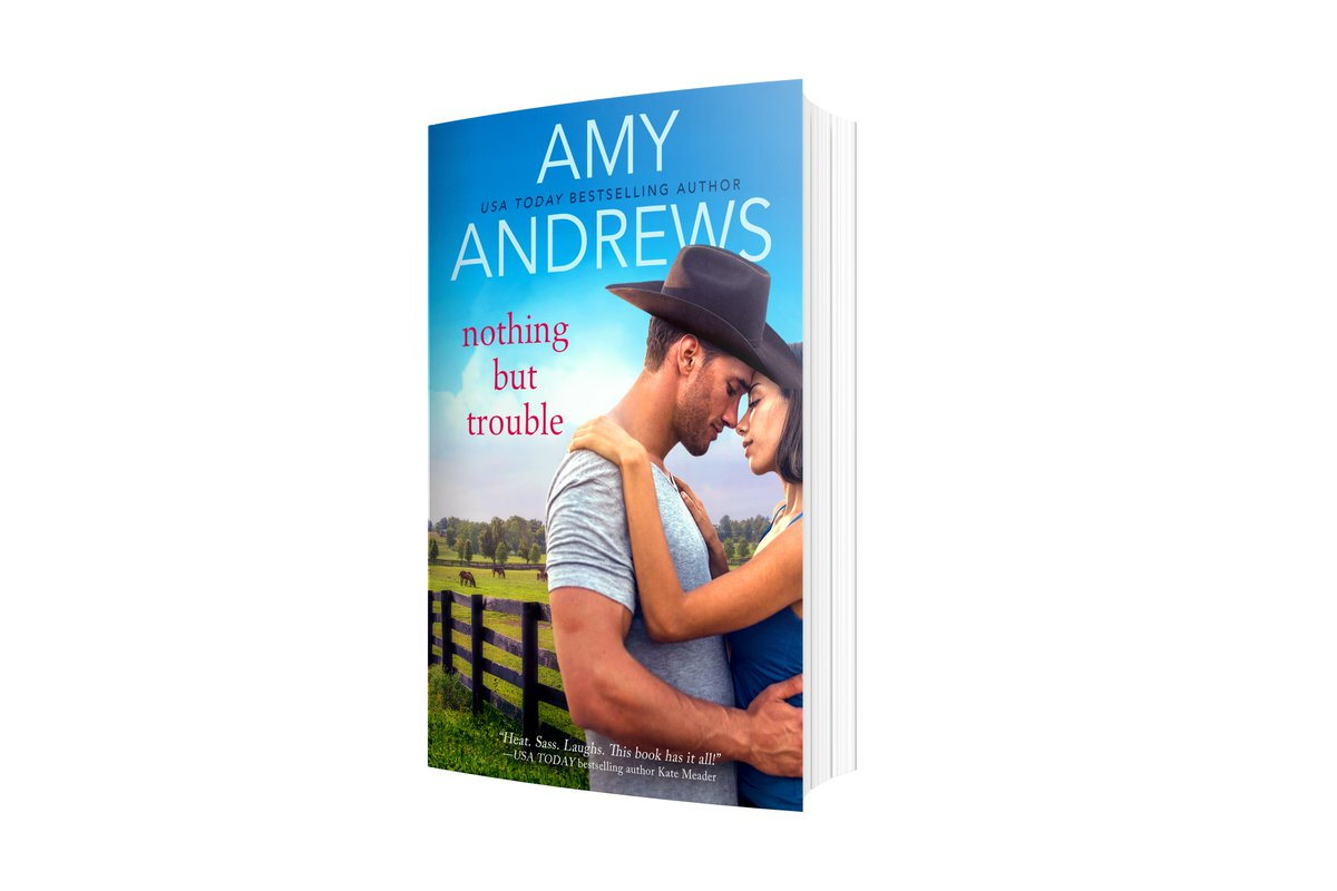 """Don't miss your chance to enter to #WIN a paperback copy of Nothing But Trouble by @AmyAndrewsbooks!  """"This is just heaven from start to finish..."""" - Bananas are Tricky  #amreading #giveaway #romance https://bit.ly/2Sh8UK7"""