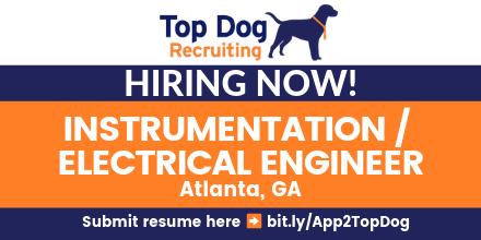 #Hiring INSTRUMENTATION/ELECTRICAL ENGINEER - GA #jobs #jobsearch #jobseeker #jobshiring *with RELO!!* #RiskAnalysis #automation #processimprovements #controlsystems #Engineering #OSISoft #Atlanta #GA  Apply here http://bit.ly/App2TopDog