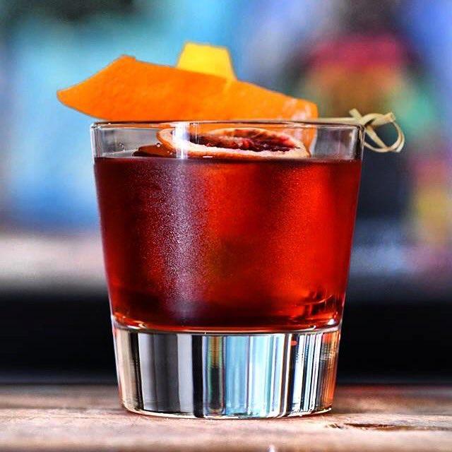 Rye Boulevardier ~rye, campari, sweet vermouth. #cheers #bartoscana #bartoscanabrentwoodhttp://bartoscana.com   📷 + 🍹 Robert Carder