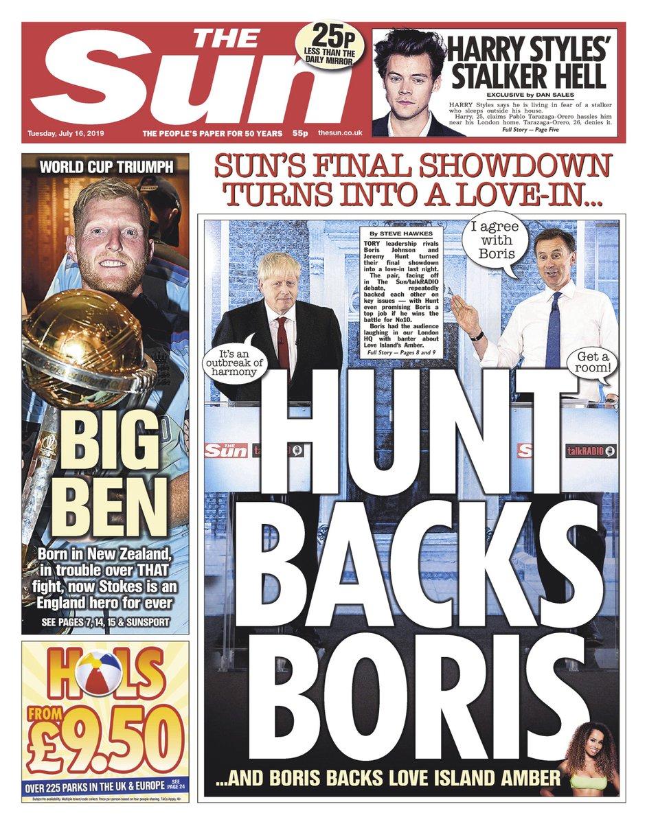 Boris Johnson, Jeremy Hunt in final debate before UK PM vote...