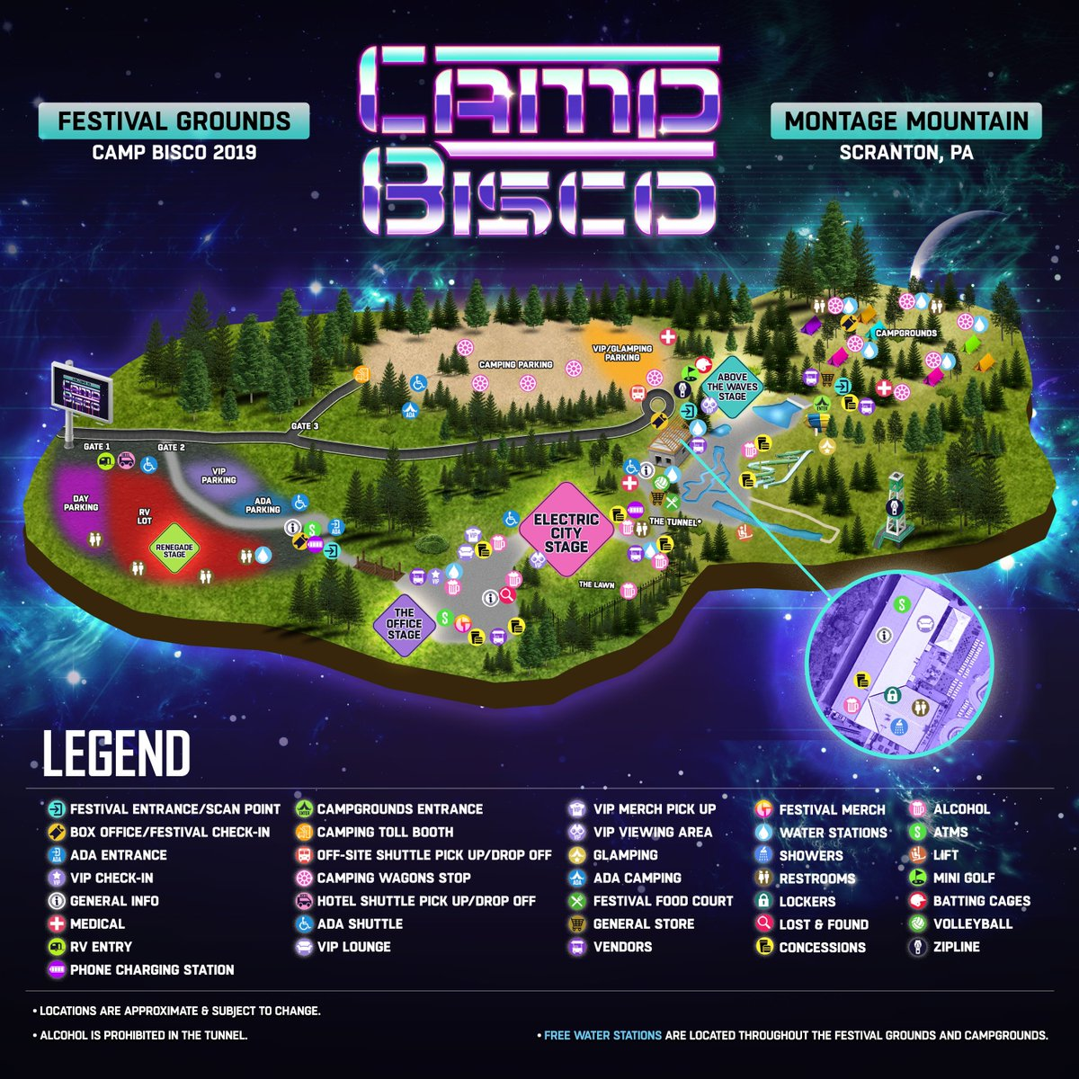 2021 Camp Bisco map
