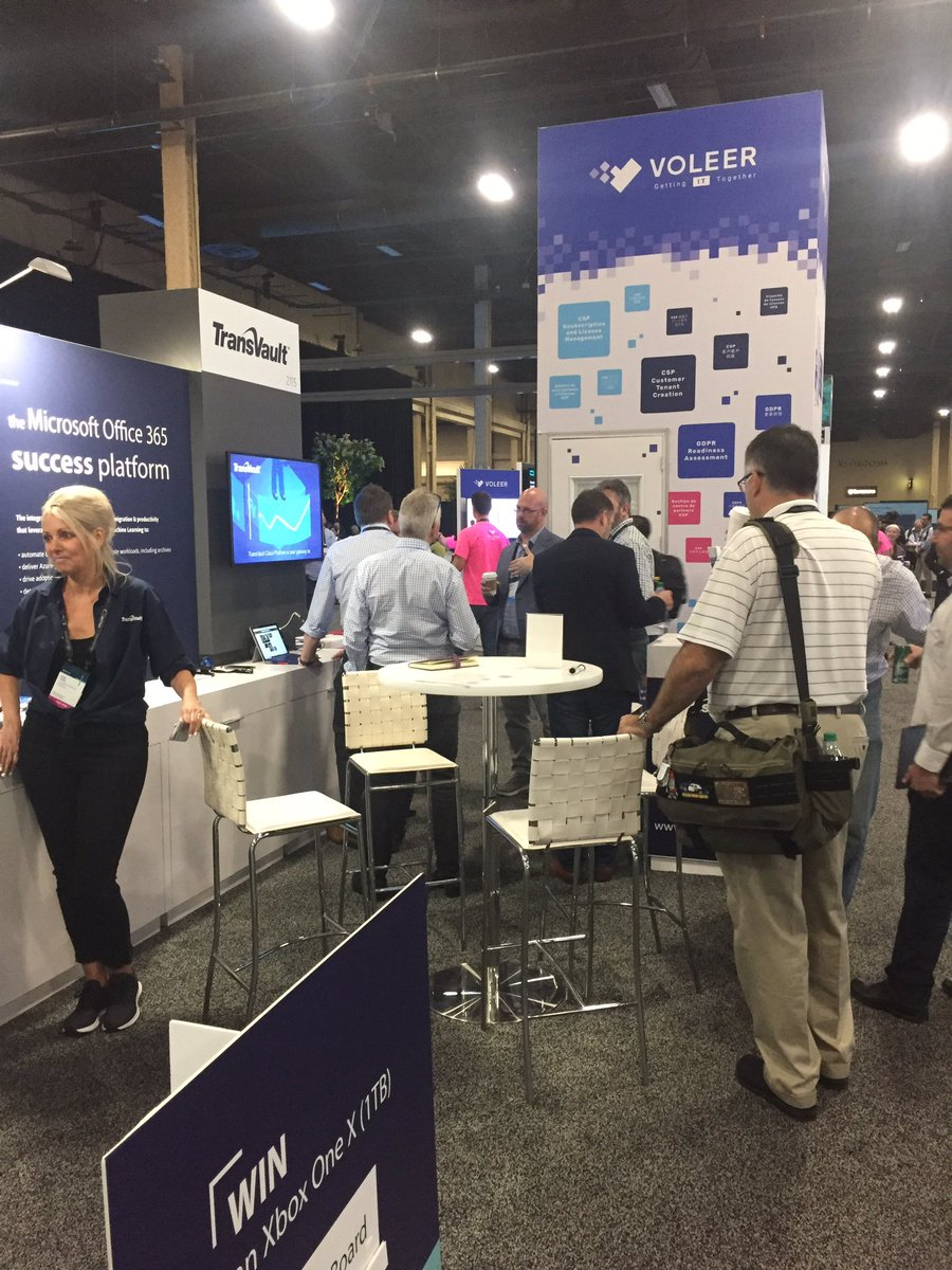 Still busy here at booth 2115 with plenty of people interested in seeing the TransVault Cloud Platform in action. Make your way over and be in with the chance to win a #XboxOne #MilkTheCloud #MSInspire