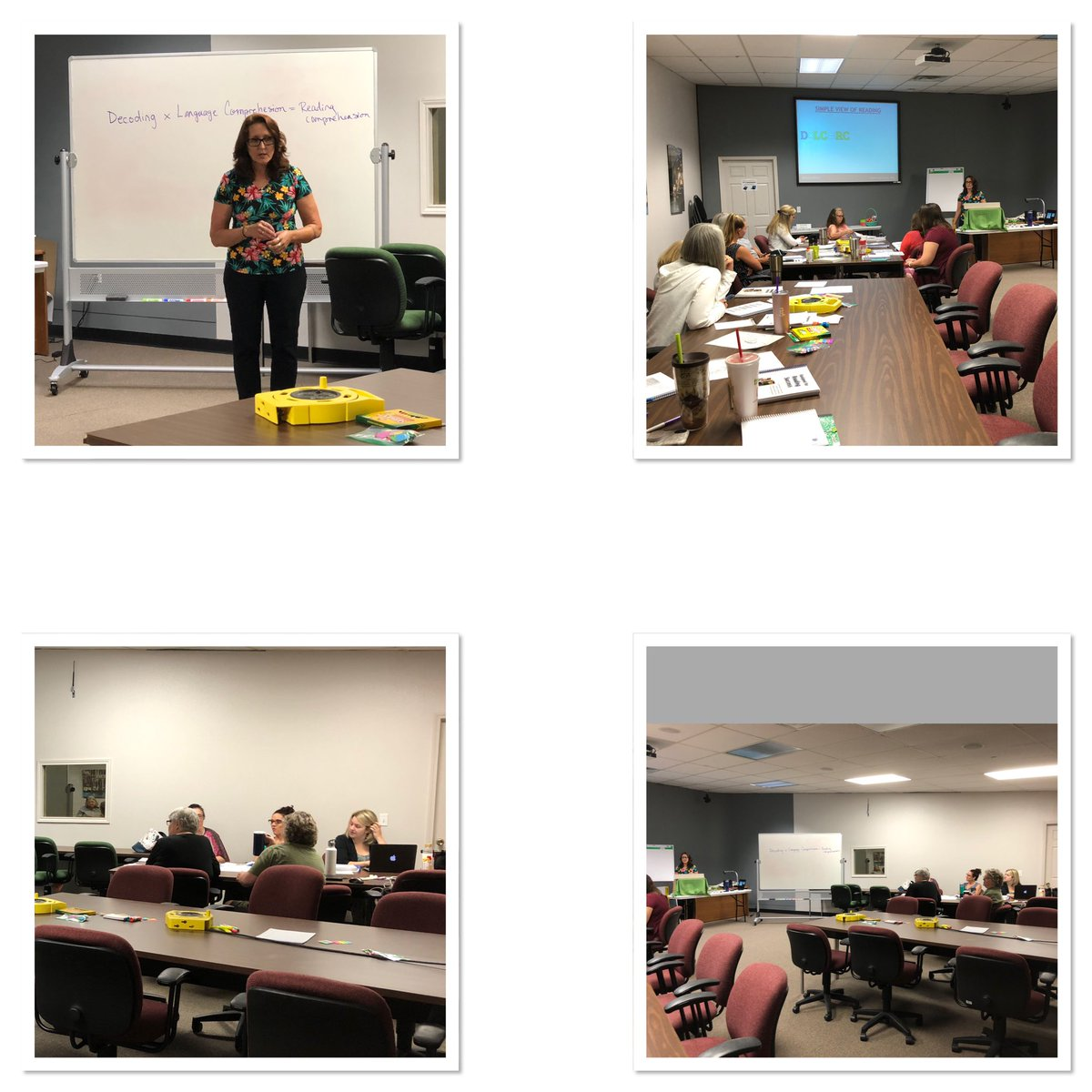 """Ingrid is back in NWA facilitated the Day 1 of """"Brainspring Science of Reading""""."""