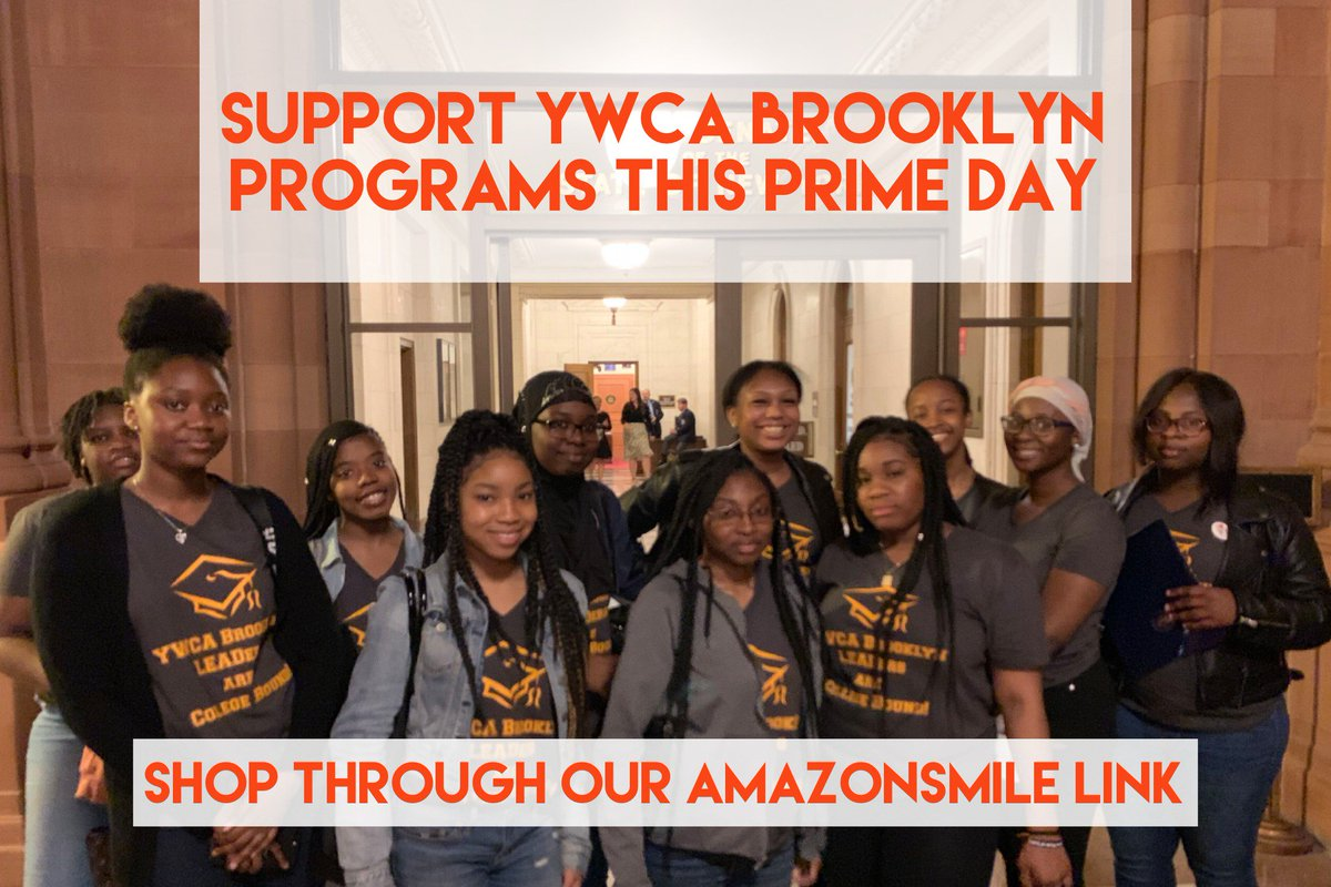 Its #AmazonPrimeDay and its easy to support the mission of YWCA Brooklyn and our work for women and girls of color through your everyday purchases. Just shop Amazon using the link below and theyll donate on your behalf! #OnAMission smile.amazon.com/ref=smi_se_saa…