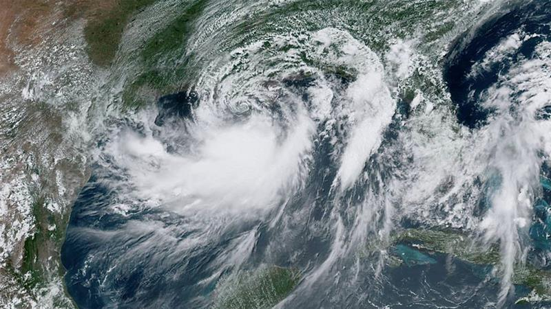 Tropical storm #Barry caused the Mississippi River to flood New Orleans, as well as towns along the Louisiana coast. Communities and tribal nations are demanding Louisiana's Governor take action to stop fossil fuel projects in his State.  Press Release:  http:// fal.cn/32W7r    <br>http://pic.twitter.com/xFmJVdzkLU
