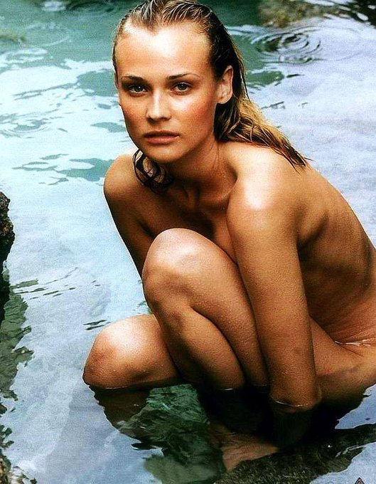 Happy Birthday to Diane Kruger who turns 43 today!  Pictured here in her birthday suit.
