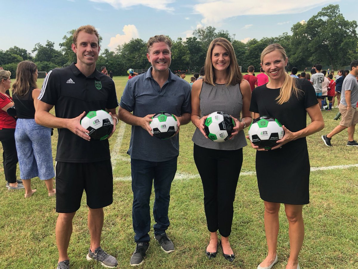 We are excited to partner with @AustinFC to offer 10 community soccer camps. The first kicked off today in East Austin, with more than 100 boys and girls, ages 5-14, participating. #AustinFC #AustinLovesSoccer
