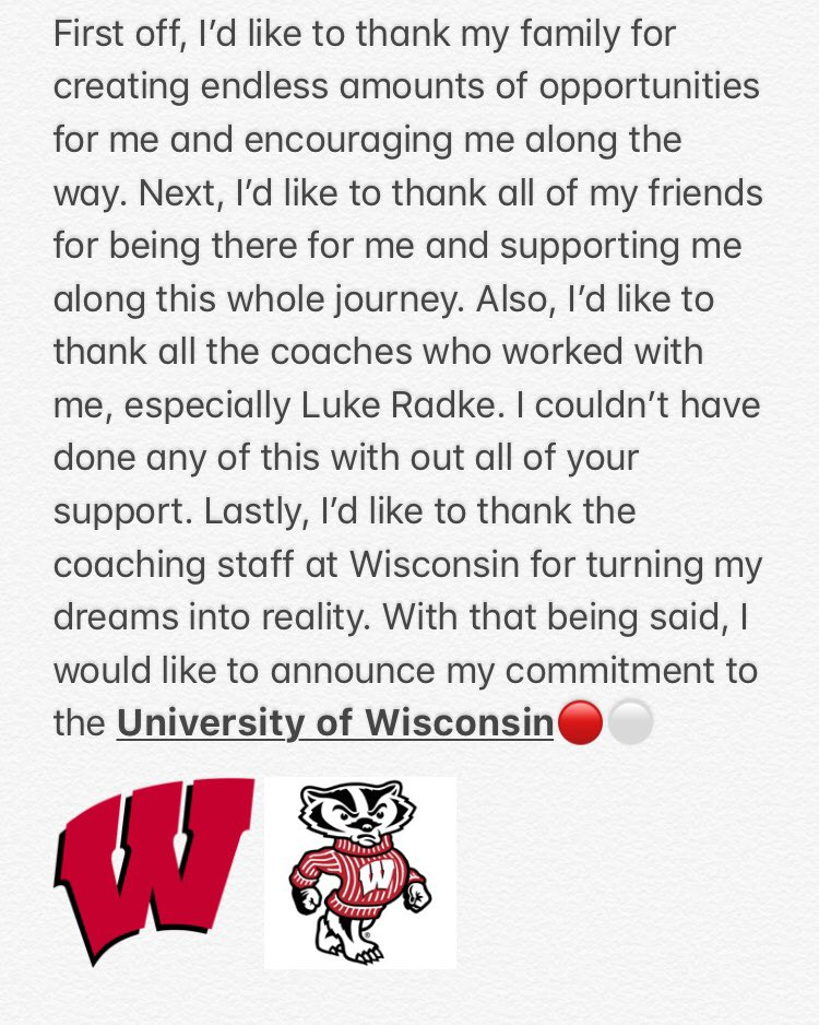 Committed‼️ #OnWisconsin 🔴⚪️ https://t.co/8ky4C1ayd4