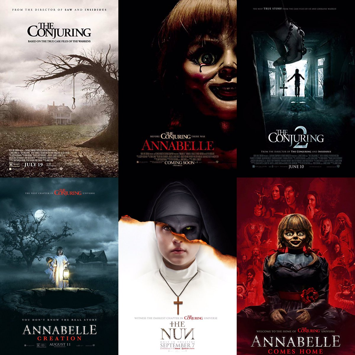 What is your favorite film in the #Conjuring universe? 😎