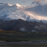 Image for the Tweet beginning: Like an ice-walled fortress, Denali