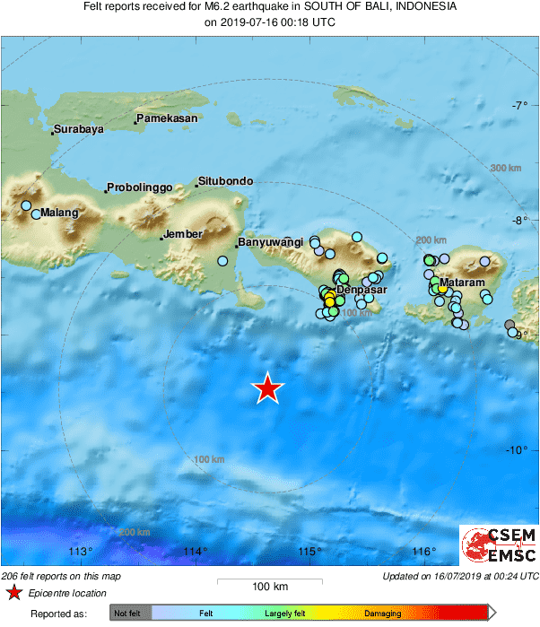 Emsc On Twitter Strong Earthquake Gempa Shakes South