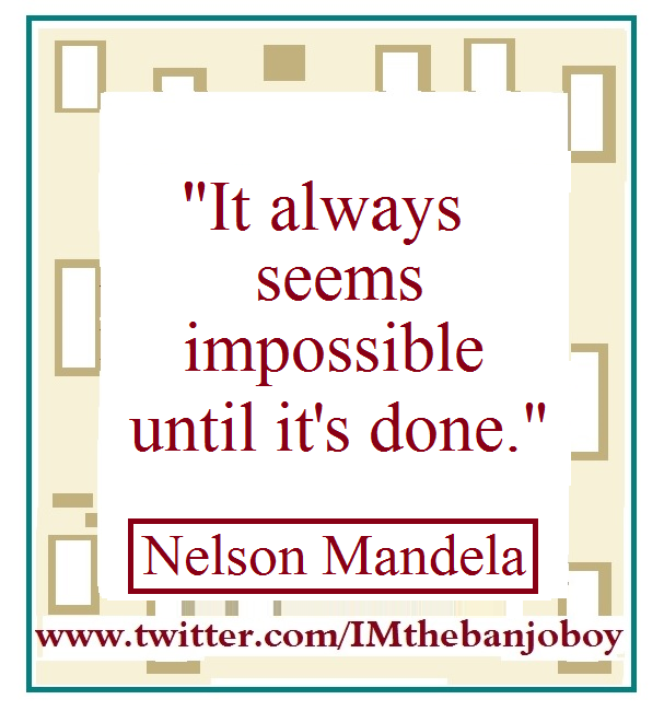 """It always seems impossible until it's done."" #NelsonMandela https://www.youtube.com/watch?v=GCHqqR6yCSc … #Learning  #Impossible  #MoreLearning  #Possibilities  #Finishing  #Obstacles  #Overcoming  #Continuity  #Effort  #Equality  #SocialJustice  #Moments  #Progress  #SocialChange  #us  #MoreQuotes"