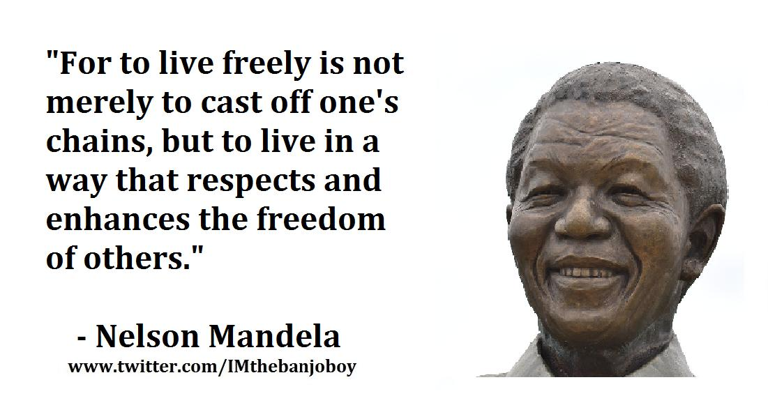 """To live freely is not merely to cast off one's chains..."" #NelsonMandela  https://www.youtube.com/watch?v=GCHqqR6yCSc …   #Learning  #Freedom  #MoreLearning  #Living  #LivingWell  #Enhancement  #Rights  #Others #HumanRights #CivilRights    #Respect #Equality  #Values  #SocialJustice #us  #MoreQuotes"