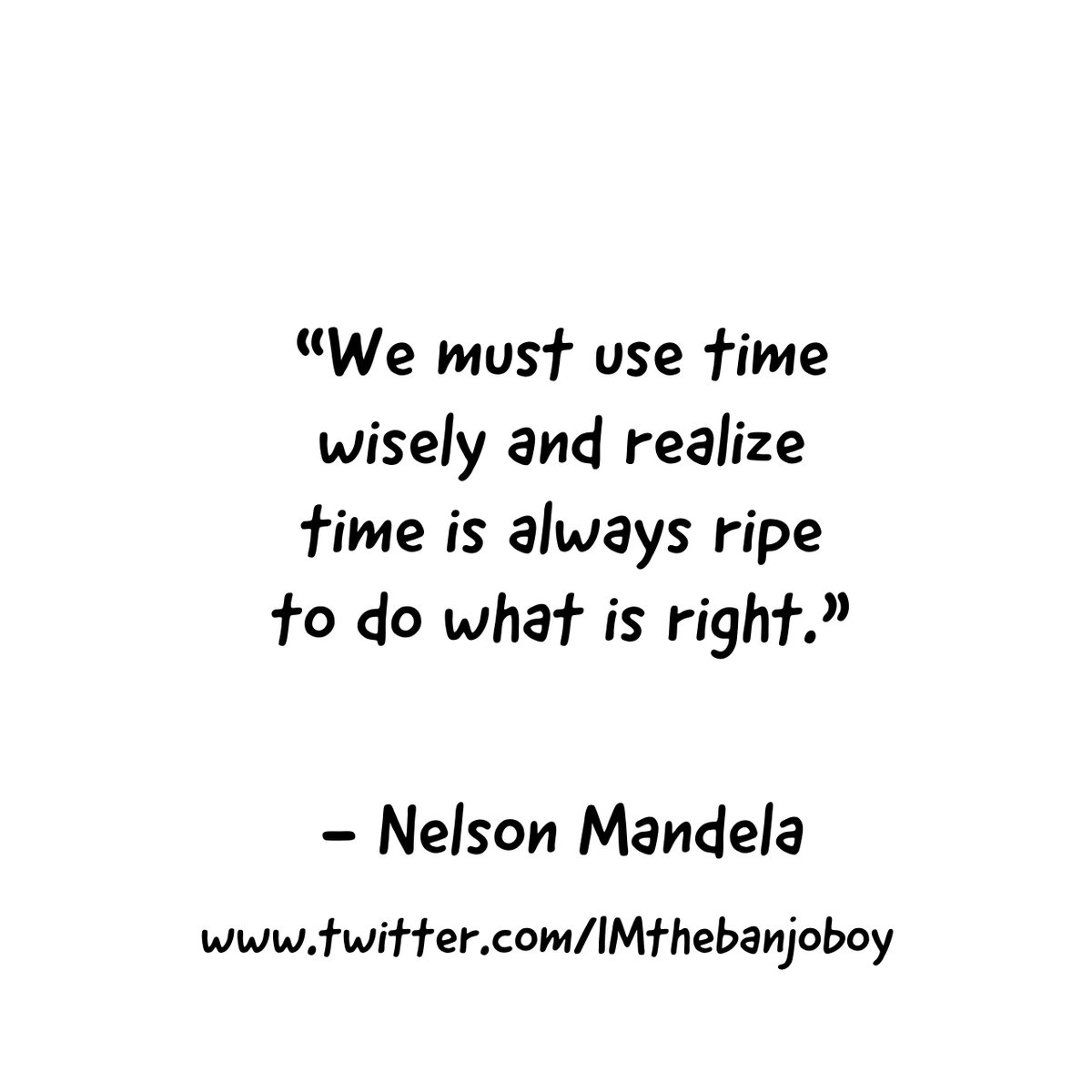 We must use time wisely #NelsonMandela https://www.youtube.com/watch?v=GCHqqR6yCSc … #Learning  #Time  #MoreLearning  #Wisdom  #TimeManagement  #Action  #Actions  #Activity  #Rightness  #Morality  #Advocacy  #Productivity  #Progress  #SocialChange  #Effort  #Now  #Leadership  #us  #Quotes  #MoreQuotes