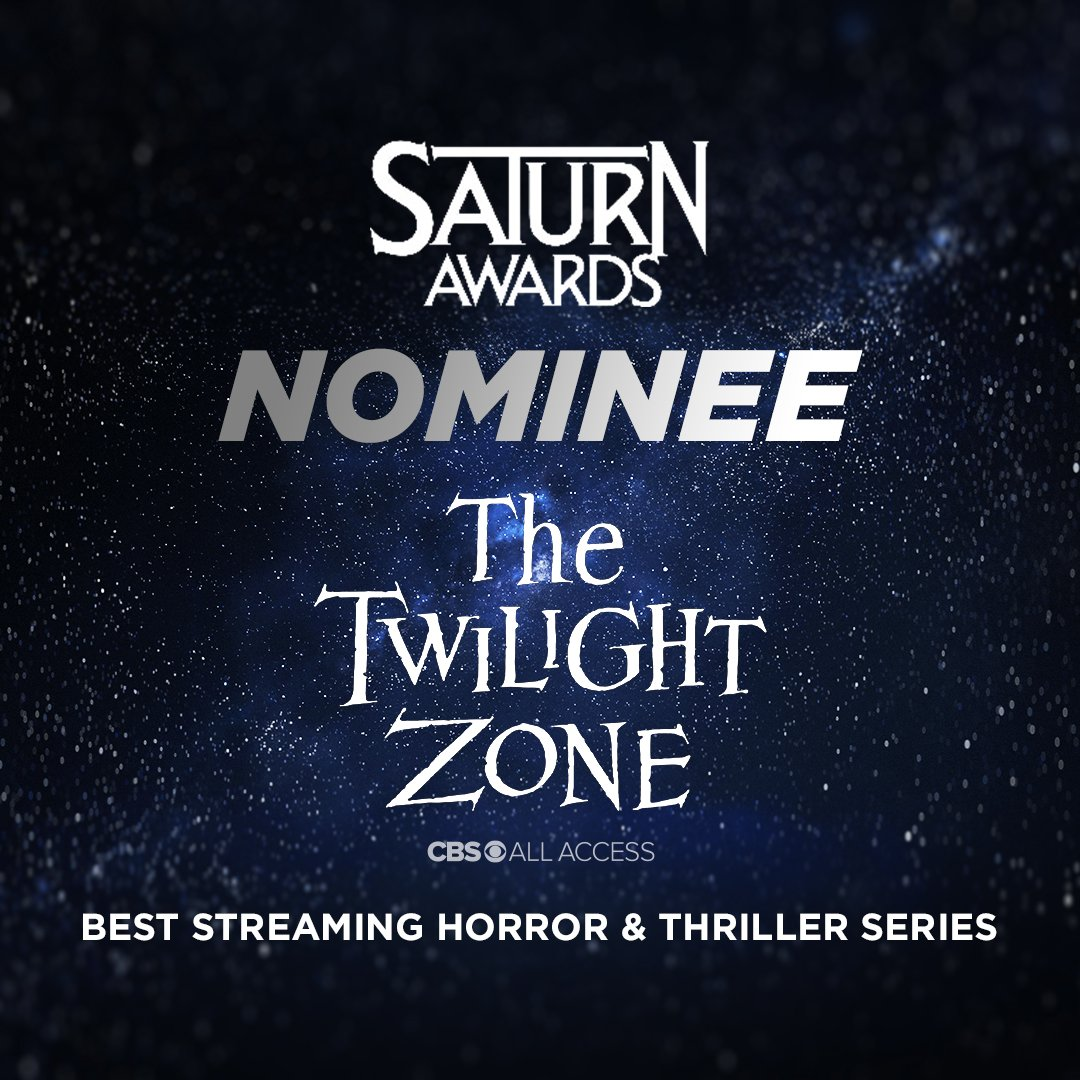 We'd like to congratulate #TheTwilightZone on receiving a #SaturnAward nomination for Best Streaming Horror & Thriller Series. 🌀