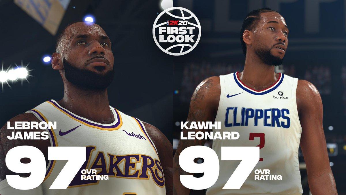 Ratings de NBA 2K20: LeBron e Kawhi são os melhores 1