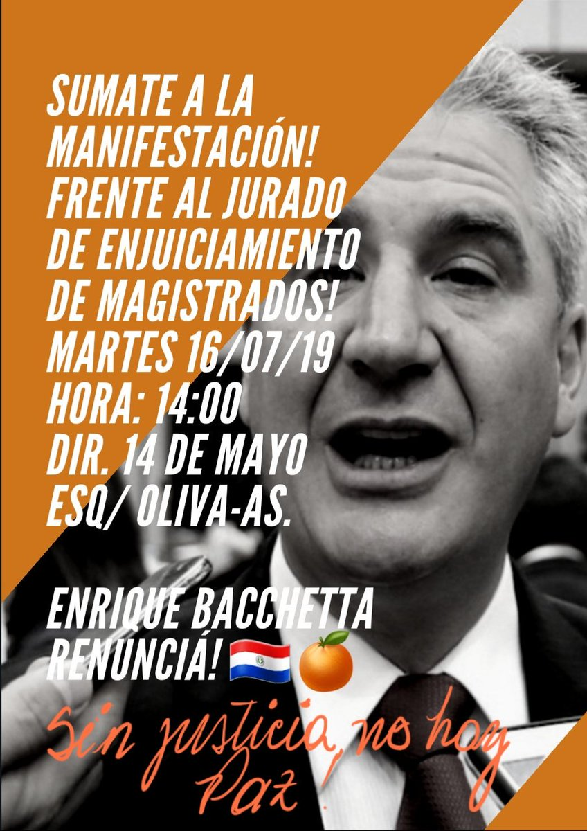 Los ciudadanos de todos los países del mundo están protestando contra los Gobiernos considerados corruptos. Paraguay puede liberse del yugo de la corrupción, SUMATE a las convocatorias ciudadanas! CACE🇵🇾🍊