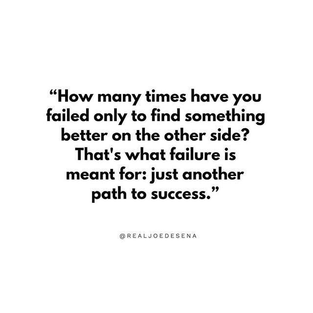 Inspiration from @realjoedesena ・・・ Failure = Path To Success ✔️ . . #QOTD #DailyQuote #Sunday #CEO #Failure #Success #Spartan #QuoteOfTheDay https://ift.tt/2NY34PA