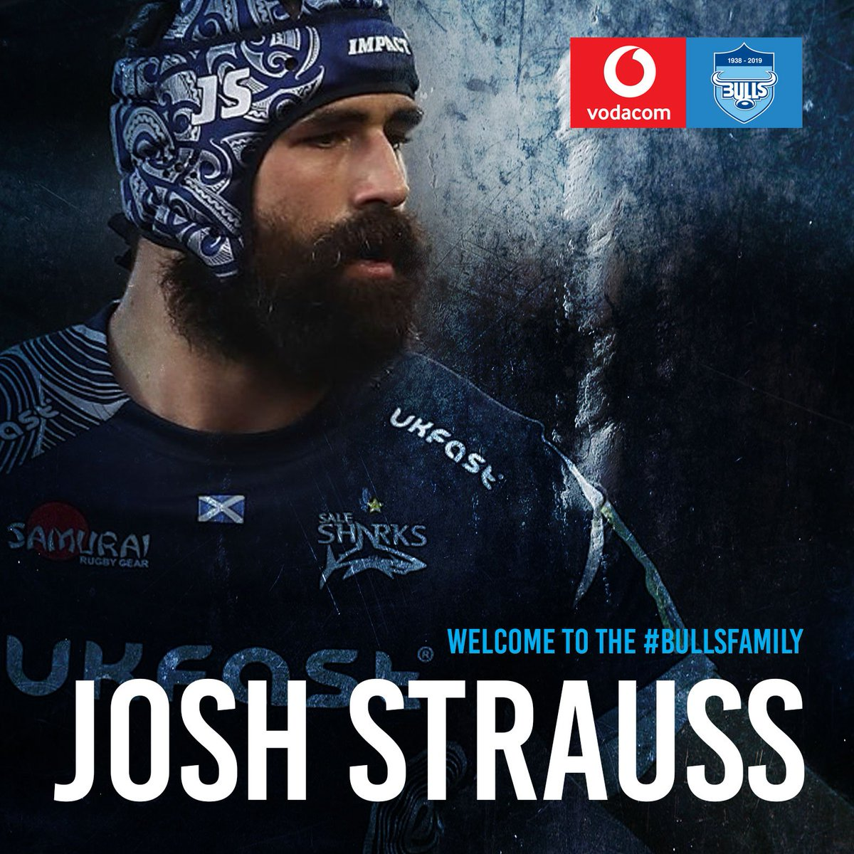 Looking forward to seeing Josh Strauss run out at Loftus.   Welcome to the #BullsFamily big guy