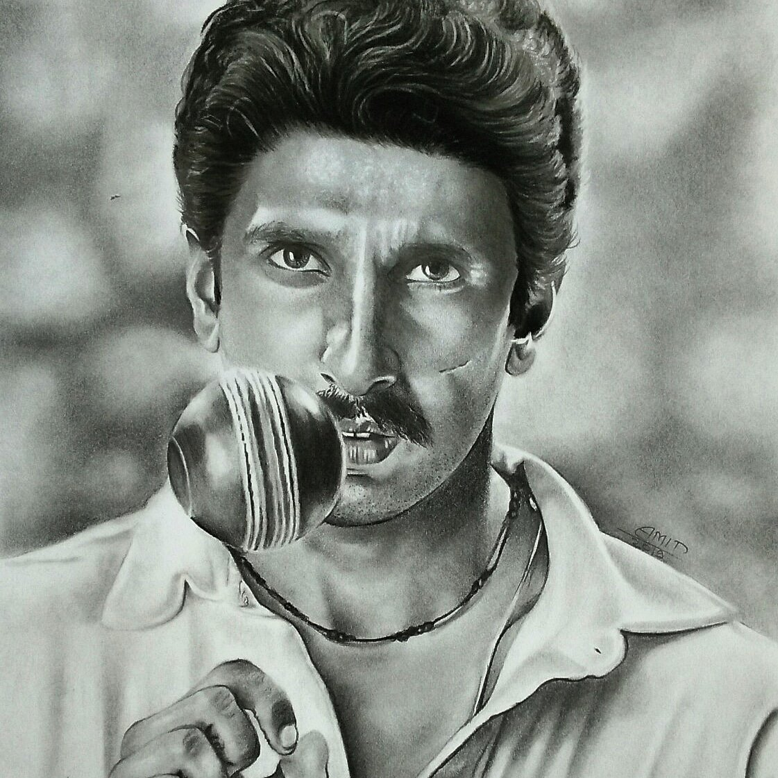 Final sketch of @RanveerOfficial as a @therealkapildev from movie @83themovie  #Final #Drawings #83 #ICCWorldCup2019 #1983worldcup #india #viral #IndianCricketTeam #indiavsNewzealand #Cricket #Cricbuzzlive #Bollywood #ranveeraskapil<br>http://pic.twitter.com/hdXFp5Mtmj