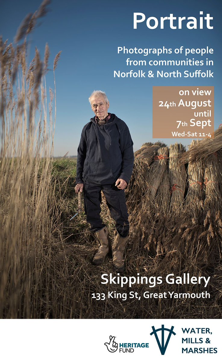 We've had a sneak peek at some of @Jules_Foto's portraits. This exhibition is going to be excellent.  @lowjournal @EastSuffolk