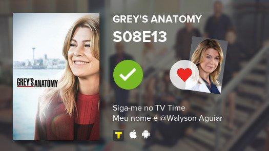 Assistir mais um episódio da S08E13 of Grey's Anatomy! #GreysAnatomy  #tvtime https://tvtime.com/r/16um8