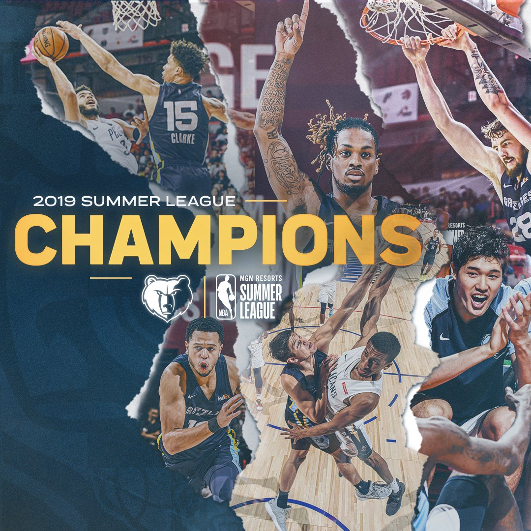 BRINGING SOME HARDWARE BACK TO BEALE STREET BAYBEE 🗣️  HOT SUMMER GRIZZ!   2019 LAS VEGAS SUMMER LEAGUE CHAMPIONS!