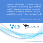 "Image for the Tweet beginning: ""I would definitely recommend VCare"
