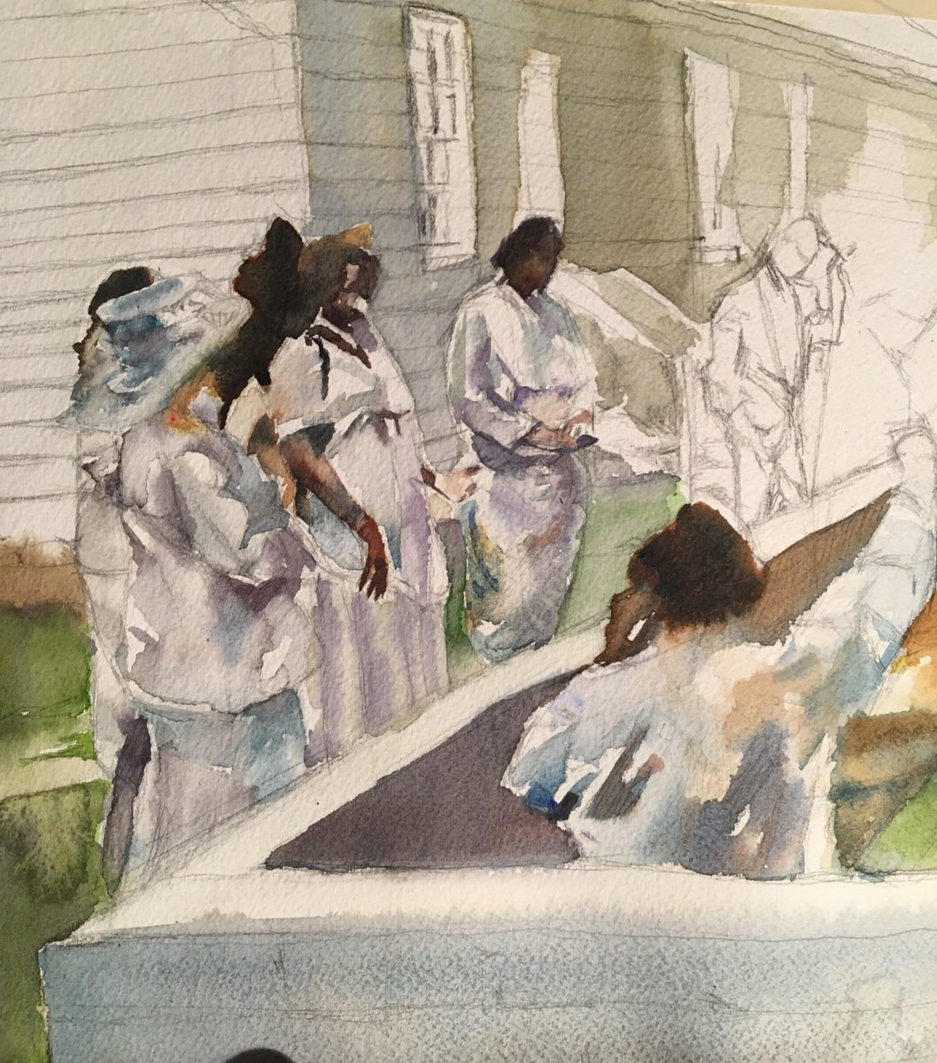 Started another baptism scene today