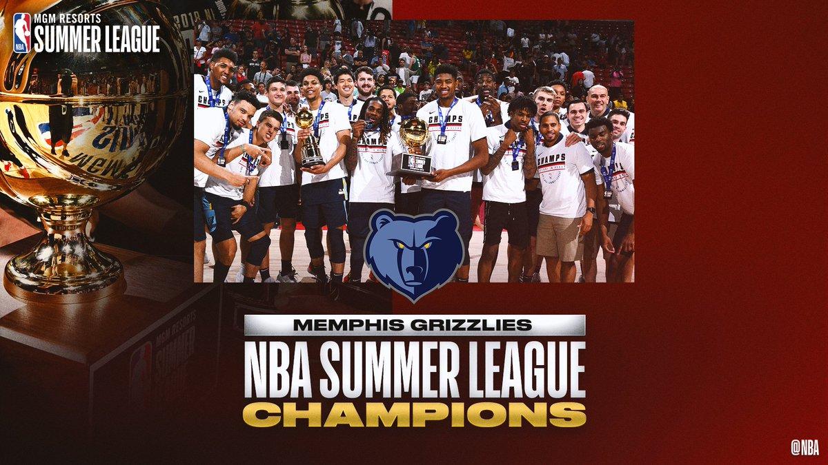🏆 2019 @NBASummerLeague CHAMPIONS!   #NBASummer #GrindCity