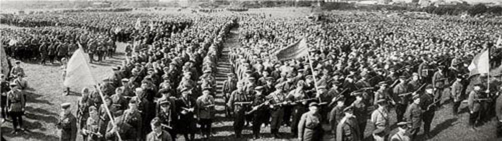 Первый партизанский парад