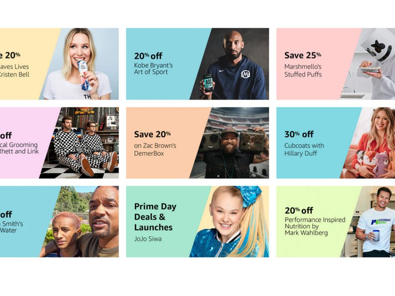 Amazon is tapping high-profile actors, athletes and social-media sensations like never before to maintain buzz around its summer sale bit.ly/32qHwy4