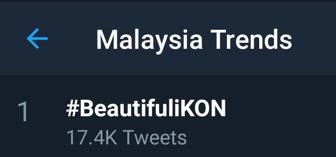 #BeautifuliKON trending as of 1pm kst #1 Malaysia #2 Indonesia #4 Philippines #4 Thailand Anywhere else? 😊 @YG_iKONIC