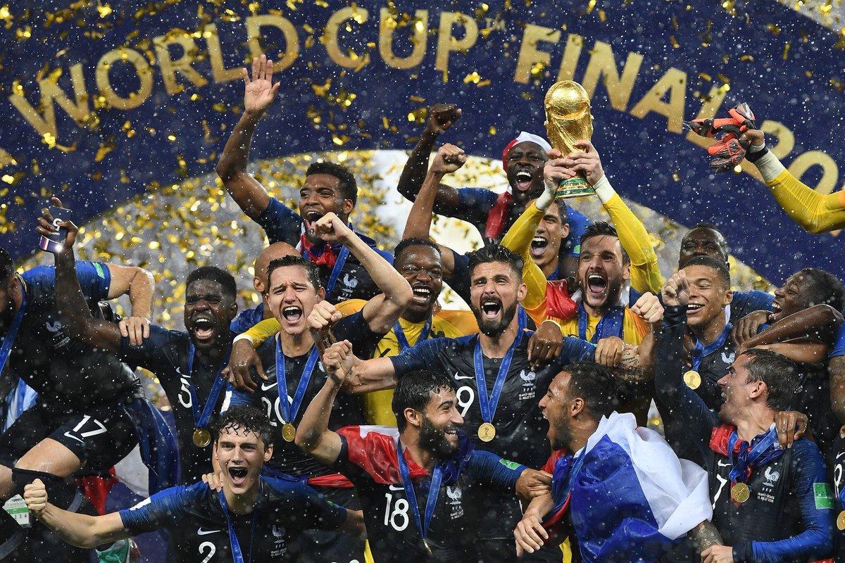 Il y a un an, nous étions Champions du Monde pour la seconde fois de notre histoire ! ⭐️⭐️ #FiersdetreBleus
