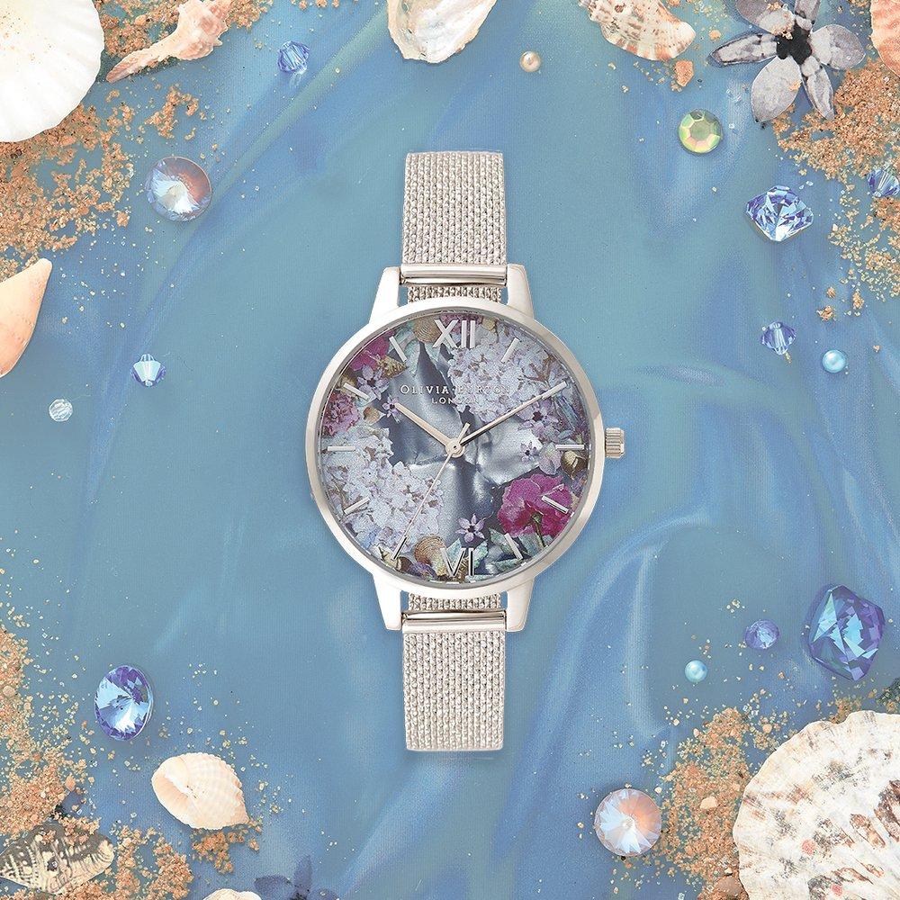 """オリビア・バートン""""海×花""""の新作ウォッチ - 煌めく海面を表現する文字盤、グラデーション色も -"""
