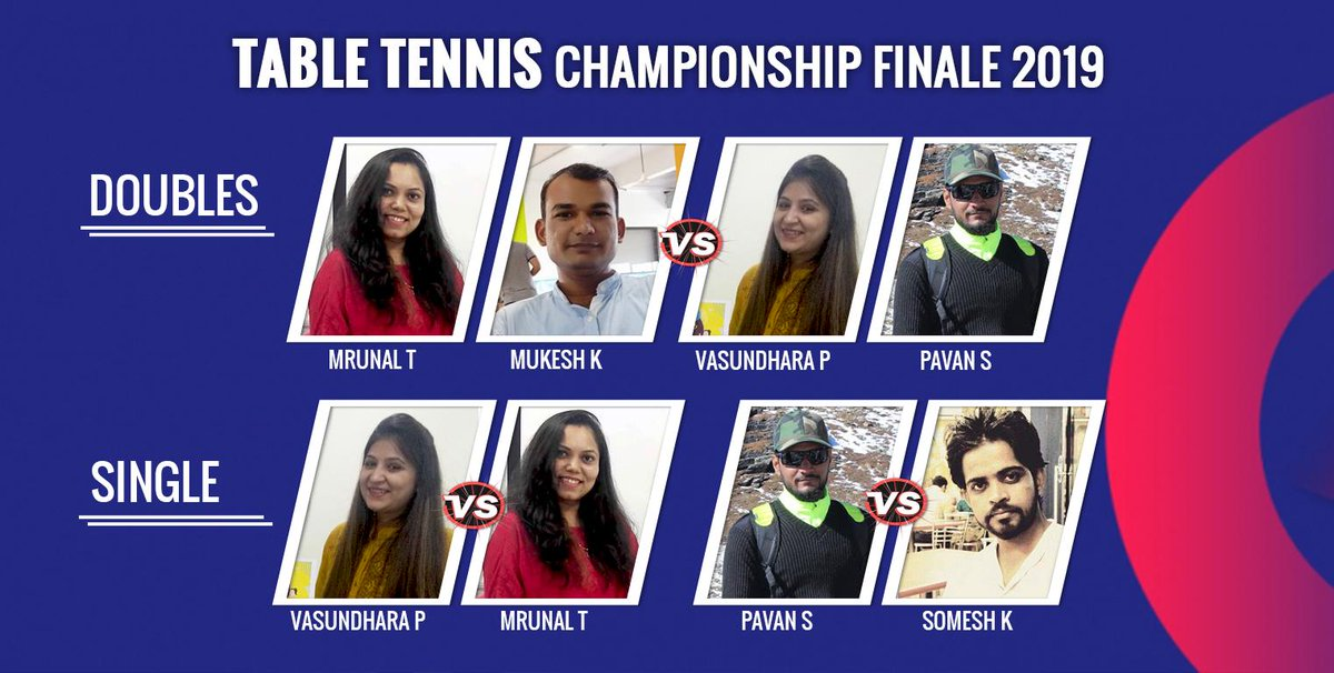 #smarTians you all witnessed a great weekend of #ICCCWC2019 Finale and #Wimbledon2019 Finals.  𝑵𝑶𝑾 𝒊𝒕𝒔 𝒕𝒊𝒎𝒆 𝒇𝒐𝒓 𝑩𝒂𝒕𝒕𝒍𝒆 𝑶𝒇 𝑻𝒂𝒃l𝒆 𝑻𝒆𝒏𝒏𝒊𝒔 𝑪𝒉𝒂𝒎𝒑𝒊𝒐𝒏𝒔𝒉𝒊𝒑 @smartDataIncLtd 𝑭𝒊𝒏𝒂𝒍𝒆. #PauseForFun work culture @sdeievent<br>http://pic.twitter.com/9J3HLwDUxi
