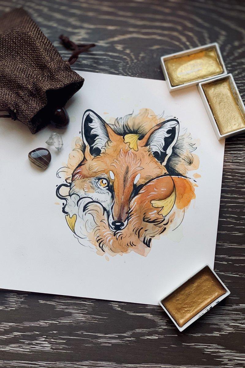 Soft and Warm ~ #fox #foxes #cute #tattoo #tattoos #lyon #france