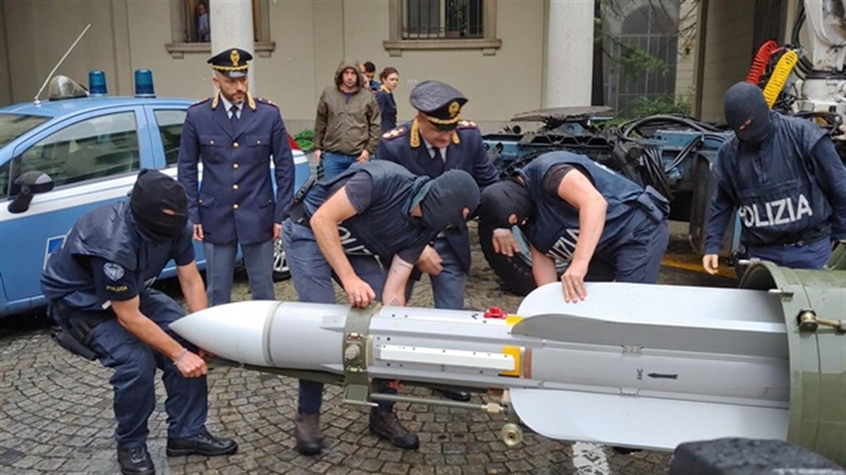 An observation: Salvini, who tweets pretty much every time a migrant gets found with a pen knife, has had very little to say about far-right activists arrested with a frigging missile and an arsenal of weapons