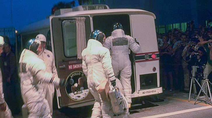 Favourite Apollo 11 fact: On this day 50 years ago, @AstroMCollins carried a mysterious brown paper bag to the launch site, which contained a small trout as a gift for close-out technician Gunter Wendt! #Apollo11 #Apollo50
