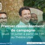 Image for the Tweet beginning: 🔴 Premier meeting de campagne