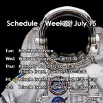 Image for the Tweet beginning: Schedule for the week of