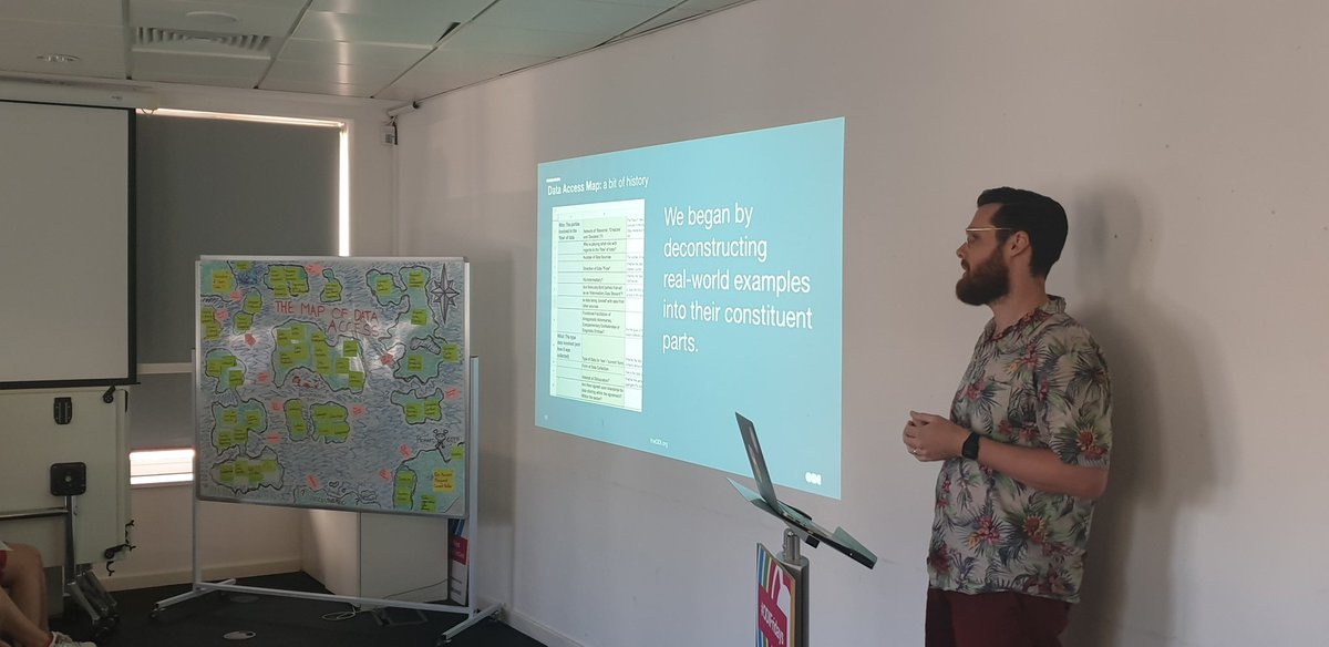 Lunchnlearn @ODIHQ with @JRobertKeller teaching more of the team about the #DataAccessMap theodi.org/article/updati…