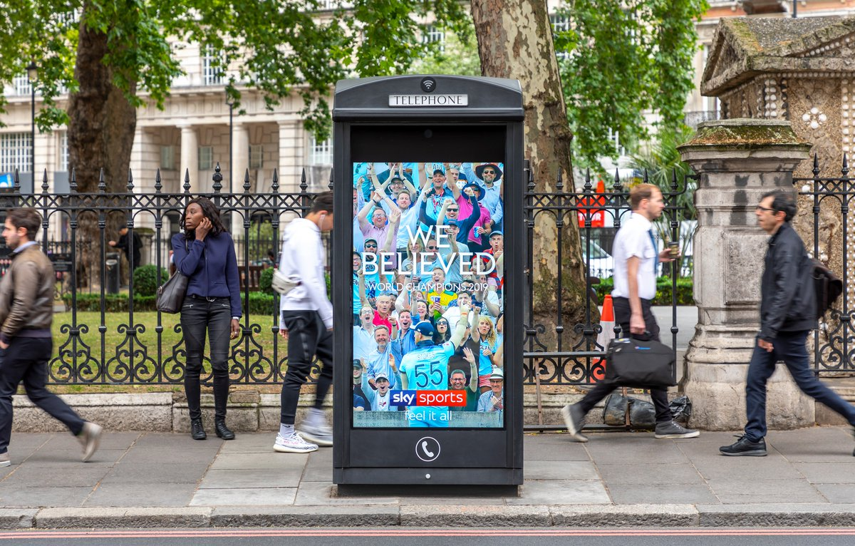 A huge congratulations to @englandcricket on their #ICCCricketWorldCup2019 win!  Great to see this reactive #DOOH campaign from @SkySports running across our digital #AdshelLive network, celebrating the fans & players! #OOH #WhereBrandsComeAlive #EnglandCricketTeam<br>http://pic.twitter.com/13Ol2c0hzr