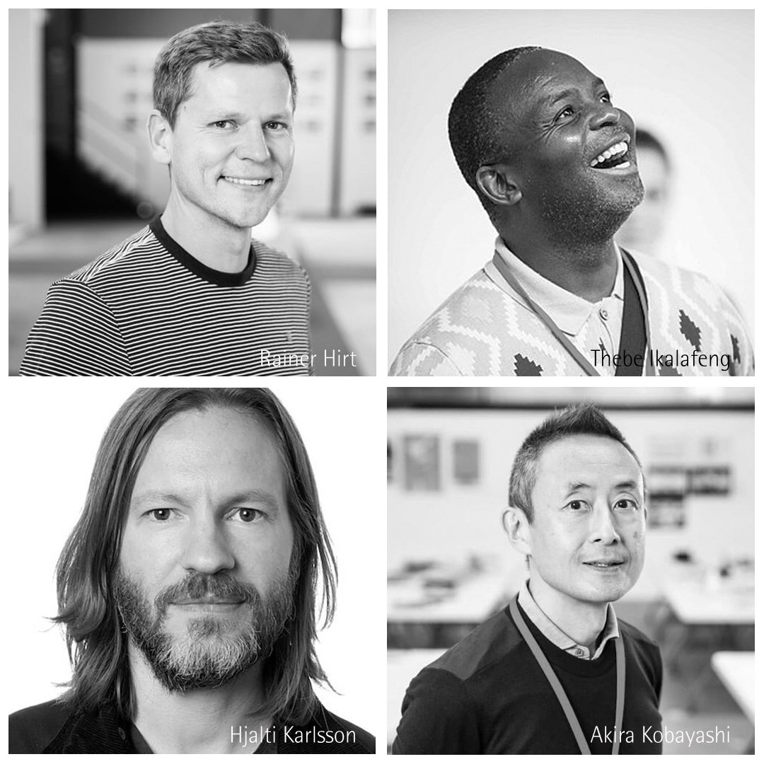 """In search of good #design & #creativity"": the #RedDotJury for the #RedDotAward awards the year's best #Brands and #CommunicationDesign. Of the party are in 2019: @rainerhirt (GER), @ThebeIkalafeng (ZAF), @HjaltiKarlsson (ISL) & Akira Kobayashi (GER). More http://bit.ly/2IW15Dw"