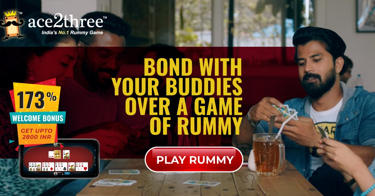 Bond with your buddies over a game of rummy! 🙌🙌 Whatever rummy you play, re-live the same joy online at Ace2three - India's No. 1 Rummy Game. 🙂🙃 Play Now => bit.ly/ace2threerummy #ace2three #rummy #TuesdayThoughts