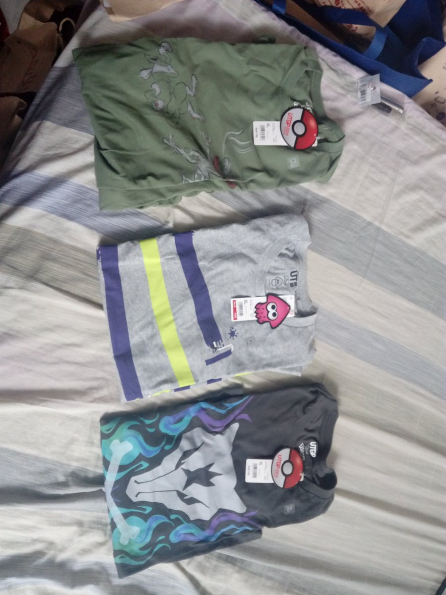 Got some good looking #UNIQLO pokemon and Nintendo shirts 2 days ago what you guys think.