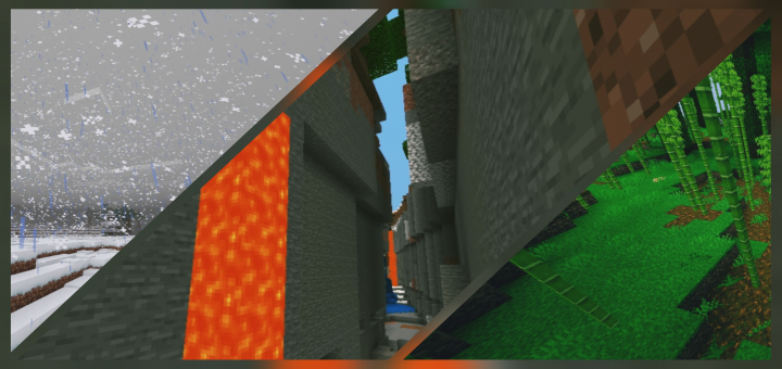Nearby Snow, Ravine & Jungle Biome at Spawn Seed (1.12+) - https://mcpedl.com/snow-ravine-jungle-biome-seed/… - By @r4isen1920