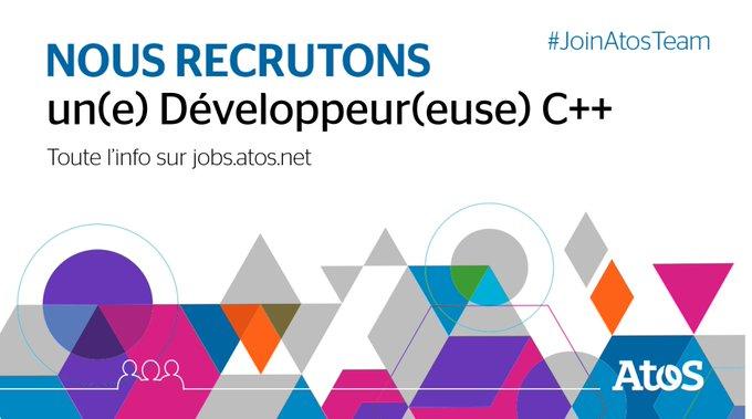 [#Job] Nous recrutons un(e) Développeur(euse) C++ à #Rennes 💼  Rédaction des spécificatio...