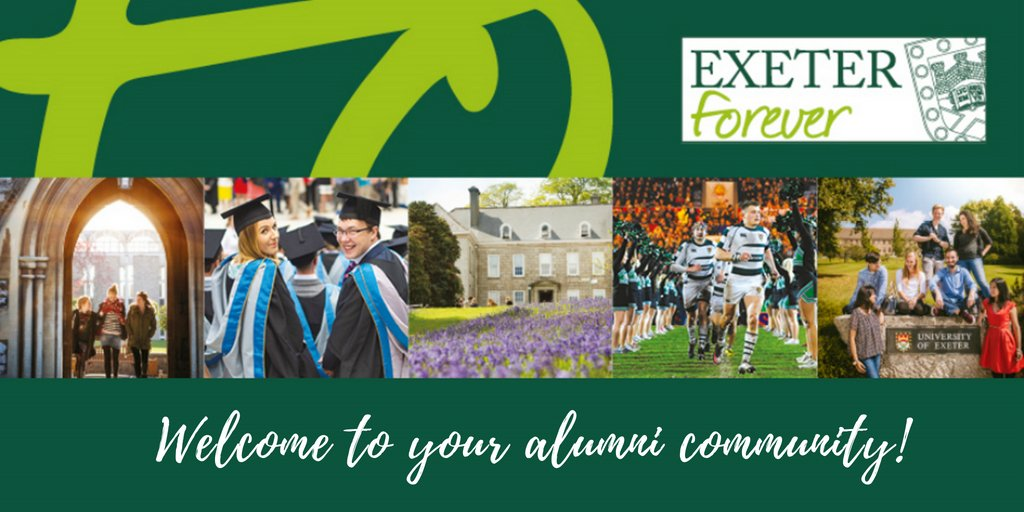 Day two of graduation and the sun is shining again! Congratulations everyone and welcome to your alumni community! Follow us for updates and events http://www.exeter.ac.uk/alumnisupporters/ … #ExeterForever #Classof2019
